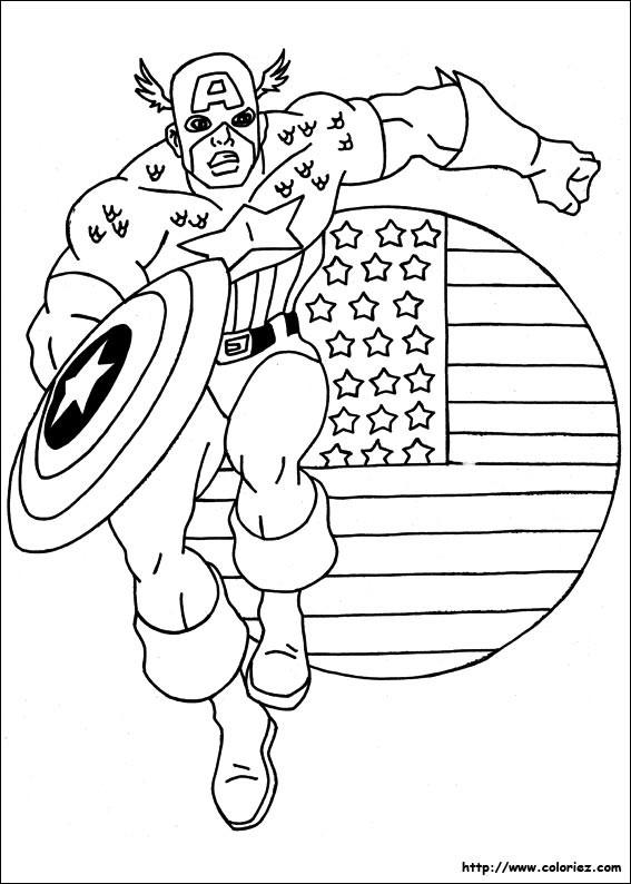 Coloriage et dessins gratuits Captain America Facile à imprimer
