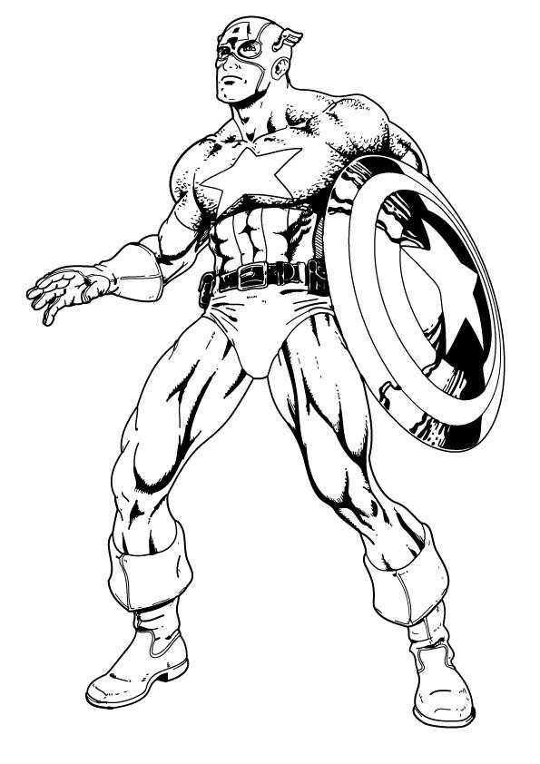 Coloriage et dessins gratuits Captain America Le Protecteur à imprimer