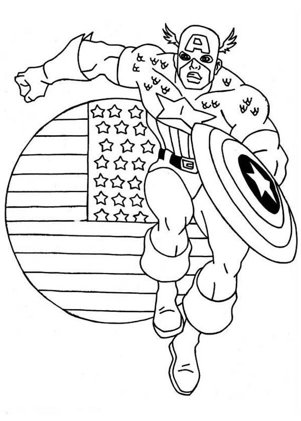 Coloriage et dessins gratuits Captain America Le Tout Puissant à imprimer