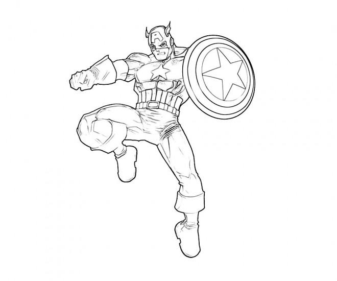 Coloriage Captain America Imprimer Gratuit.Coloriage Captain America Miniature Dessin Gratuit A Imprimer