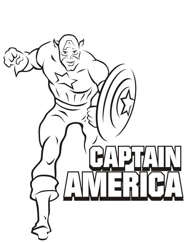 Coloriage et dessins gratuits Captain America Personnalisé à imprimer