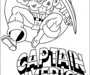 Coloriage et dessins gratuit Captain America pour Téléchargement à imprimer