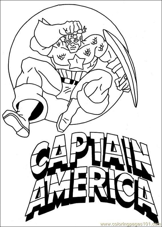 Coloriage et dessins gratuits Captain America pour Téléchargement à imprimer