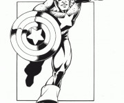 Coloriage Captain America stylisé