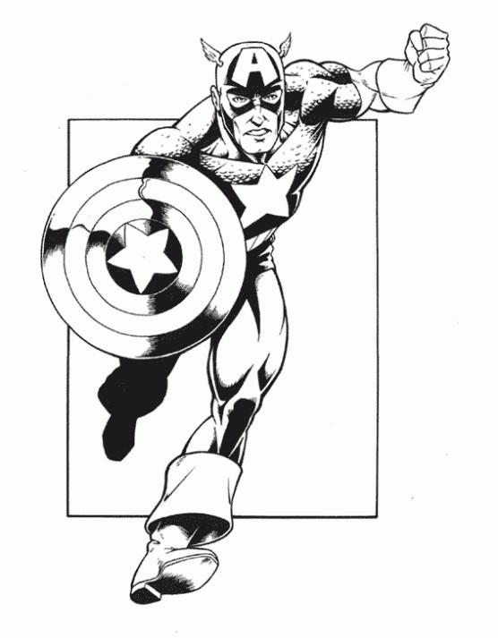 Coloriage et dessins gratuits Captain America stylisé à imprimer