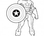 Coloriage Captain America Super Héro