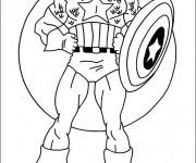 Coloriage et dessins gratuit Captain America tout Confiant à imprimer