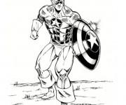 Coloriage et dessins gratuit Captain America vectoriel à imprimer