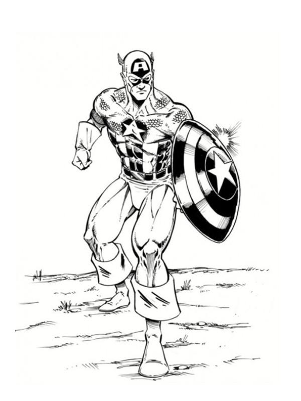 Coloriage Captain America gratuit à imprimer liste 20 à 40