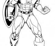 Coloriage et dessins gratuit Image de Captain America à imprimer
