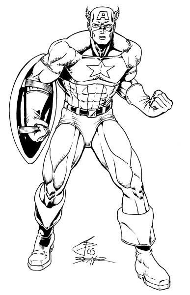 Coloriage et dessins gratuits Image de Captain America à imprimer