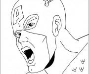 Coloriage et dessins gratuit Tête de Captain America à imprimer