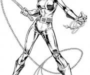 Coloriage Catwoman en couleur