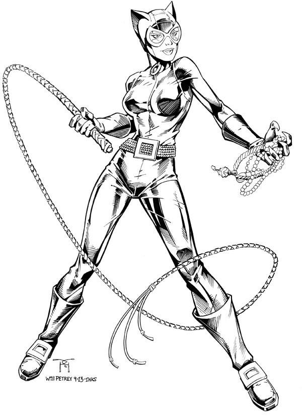 Coloriage Catwoman En Couleur Dessin Gratuit à Imprimer