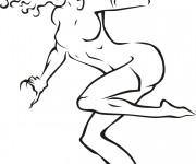 Coloriage et dessins gratuit Catwoman en vecteur à imprimer