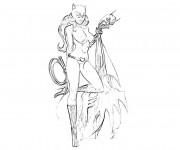 Coloriage Catwoman réaliste