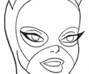 Coloriage Le Masque de Catwoman