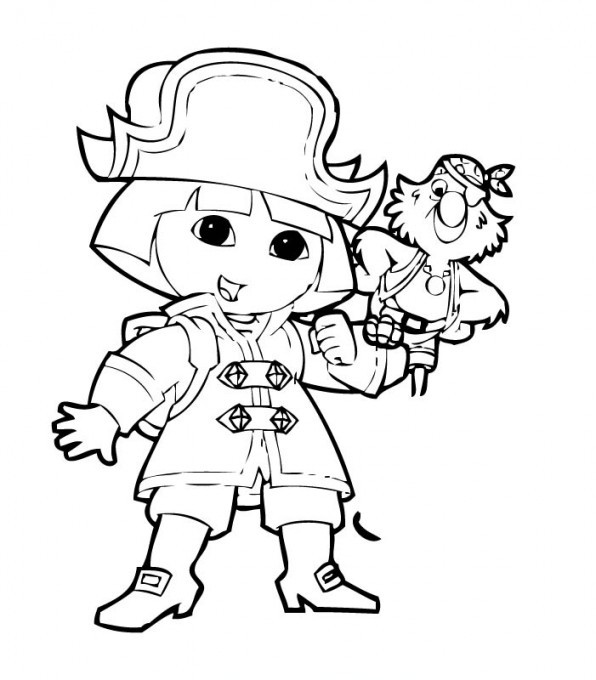 Coloriage dora pirate dessin gratuit imprimer - Coloriage fille pirate ...