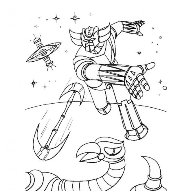 Coloriage et dessins gratuits Goldorak en ligne à imprimer