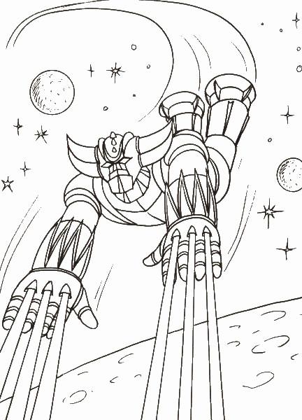 Coloriage et dessins gratuits Goldorak en vol à imprimer