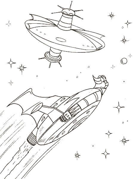 Coloriage et dessins gratuits Goldorak scène dans L'univers à imprimer