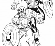 Coloriage Captain America Film