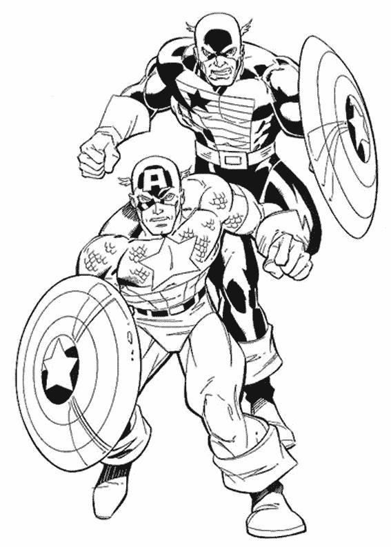 Coloriage et dessins gratuits Captain America Film à imprimer