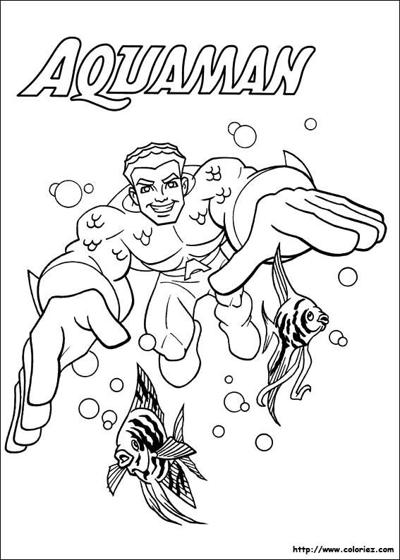 Coloriage et dessins gratuits Héros de Films Aquaman à imprimer