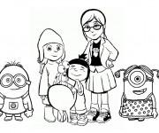 Coloriage Héros de Films Les Minions