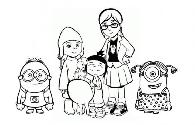 Coloriage et dessins gratuits Héros de Films Les Minions à imprimer