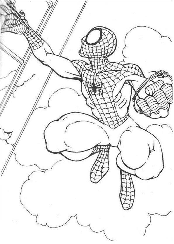 Coloriage et dessins gratuits Héros de Films Spiderman à imprimer
