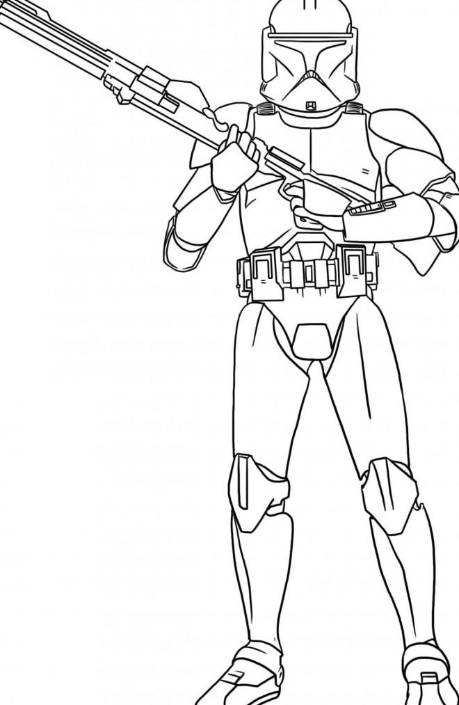 Coloriage et dessins gratuits Héros de Films Star Wars à imprimer