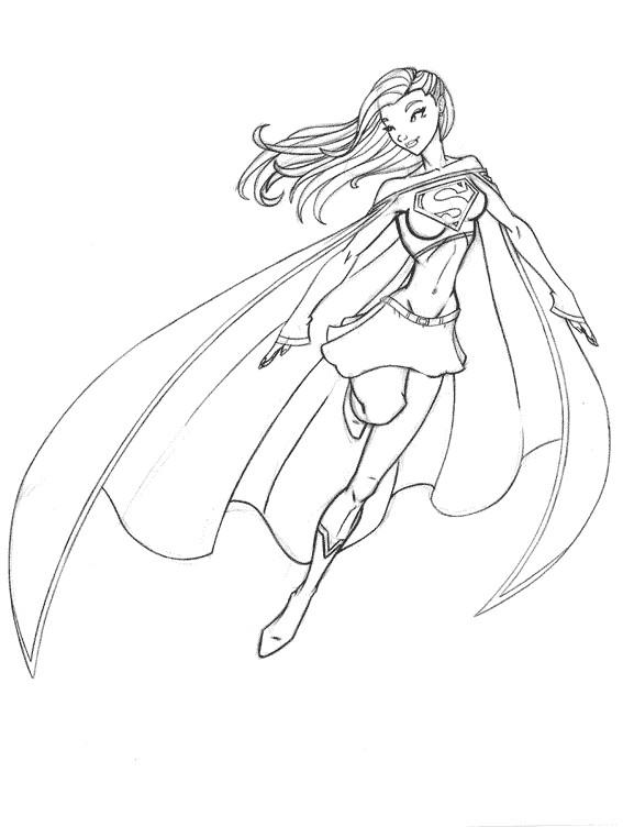 Coloriage et dessins gratuits Héros de Films Superwoman à imprimer