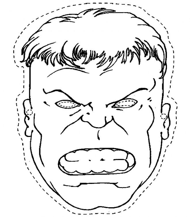 Coloriage avengers hulk masque dessin gratuit imprimer - Hulk a imprimer ...