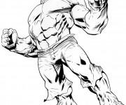 Coloriage et dessins gratuit Avengers Hulk stylisé à imprimer