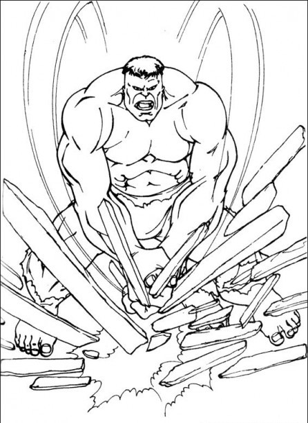 Coloriage et dessins gratuits Héro Hulk rouge à imprimer