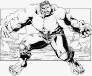 Coloriage et dessins gratuit Hulk à découper à imprimer