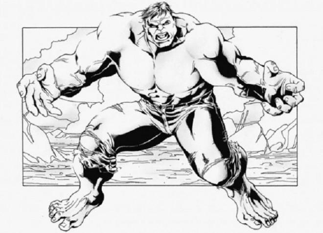 Coloriage et dessins gratuits Hulk à découper à imprimer