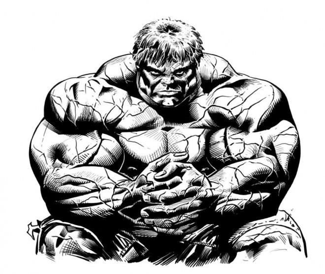 Coloriage et dessins gratuits Hulk Artistique à imprimer
