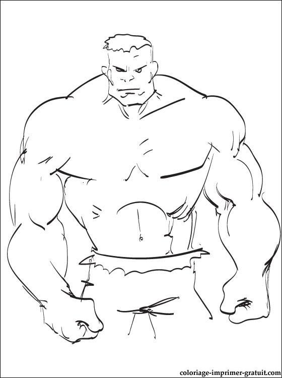 Coloriage et dessins gratuits Hulk au crayon à imprimer