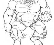Coloriage et dessins gratuit Hulk Avengers à imprimer