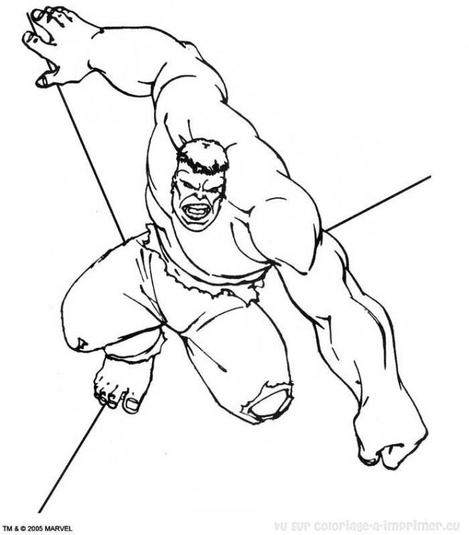 Coloriage et dessins gratuits Hulk Avengers à colorier à imprimer