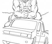 Coloriage et dessins gratuit Hulk démolisseur à imprimer
