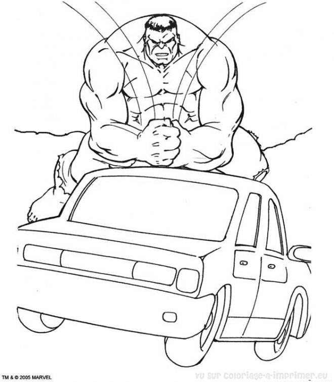 Coloriage et dessins gratuits Hulk démolisseur à imprimer