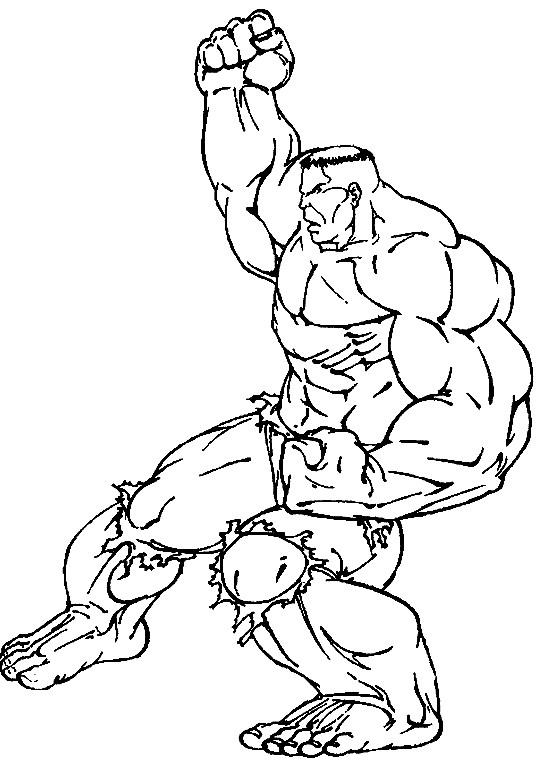 Coloriage et dessins gratuits Hulk dessin animé à imprimer