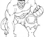 Coloriage et dessins gratuit Hulk en colère à imprimer