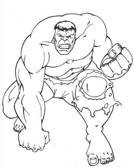Coloriage et dessins gratuits Hulk en colère à imprimer