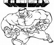 Coloriage et dessins gratuit Hulk en couleur à imprimer
