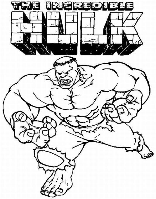 Coloriage Hulk En Couleur Dessin Gratuit à Imprimer