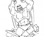 Coloriage et dessins gratuit Hulk en ligne à imprimer